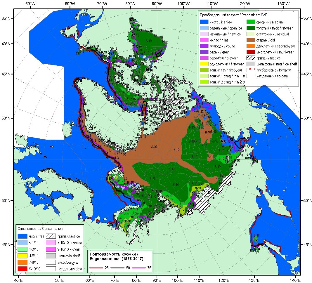 Current state and perspectives of ice cover studies in the Russian Arctic seas