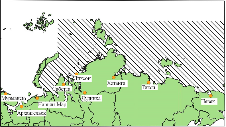 Main environmental problems in the development of the Northern sea route
